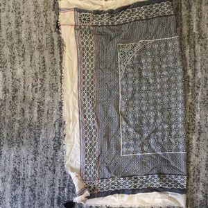 Oversized handkerchief scarf